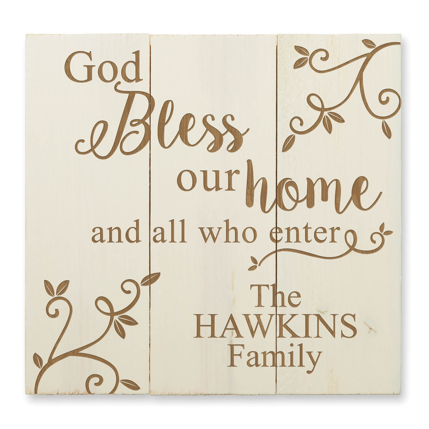 God Bless Our Home Personalized Wood Pallet Wall Art | Personalized For Personalized Wall Art (View 2 of 20)