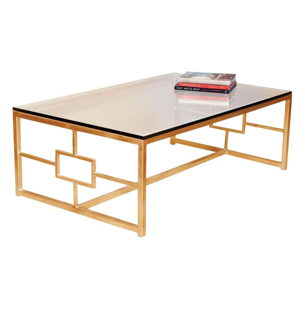 Gold Coffee Table | Contemporary Boutique Style, Antique Finish inside Gold Leaf Collection Coffee Tables (Image 11 of 30)