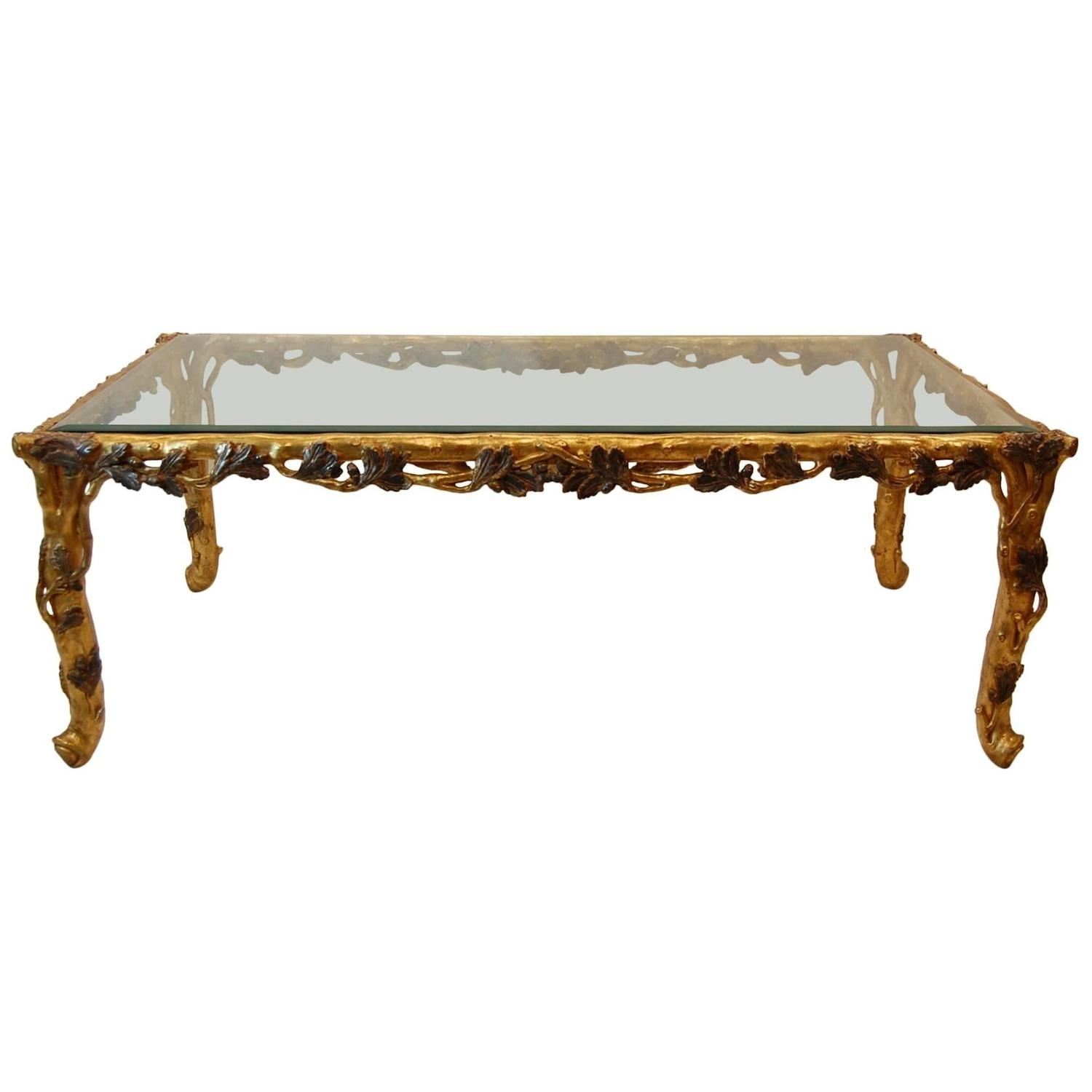 Gold Leaf Coffee Table | Furniture Design intended for Gold Leaf Collection Coffee Tables (Image 12 of 30)