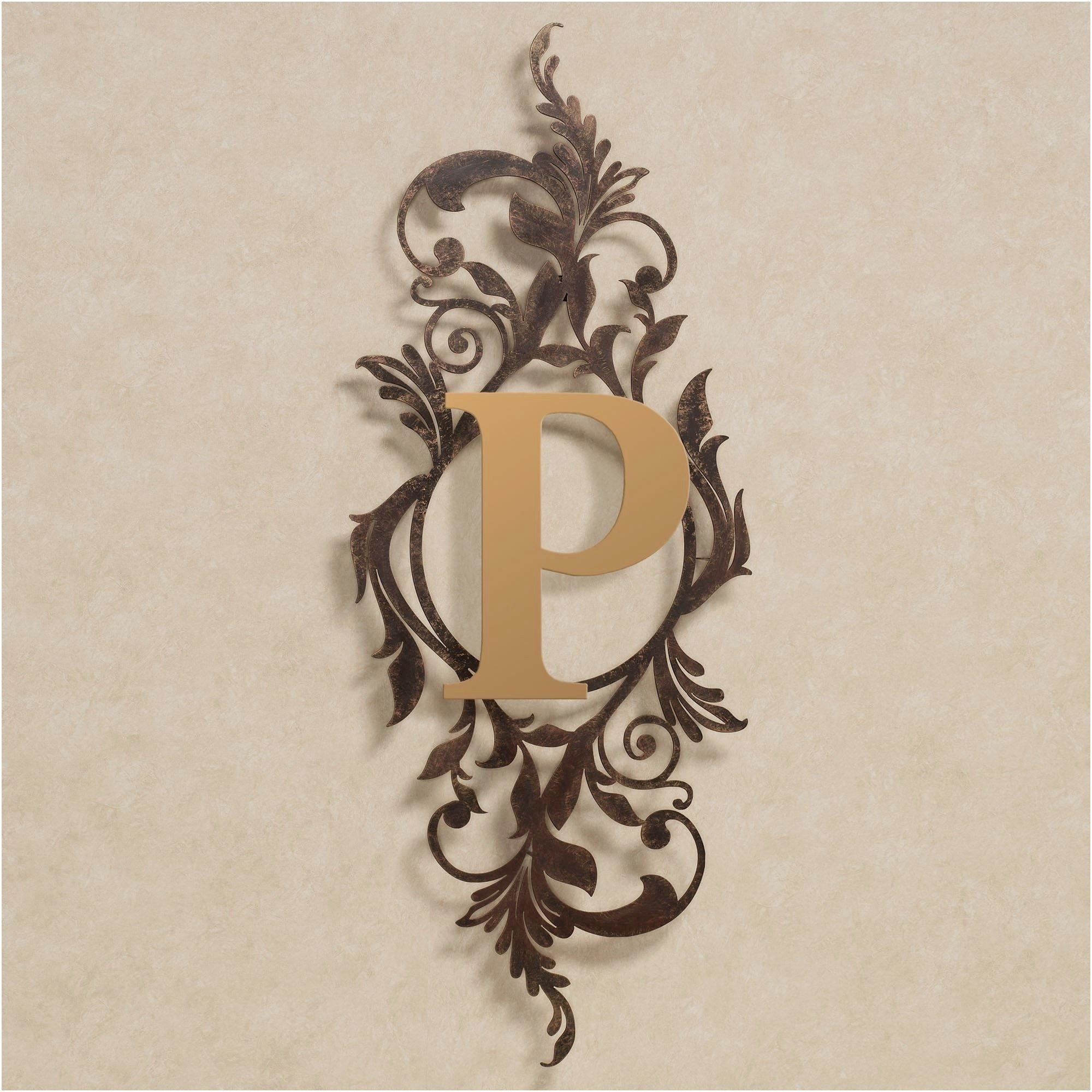 Gold Monogram Wall Decor Exceptional Beautiful Monogram Wall Decor inside Monogram Wall Art (Image 6 of 20)