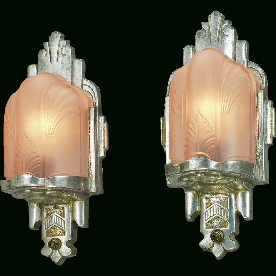 Gold Wall Sconces | Deco Wall, Vintage Pink And Wall Sconces in Art Deco Wall Sconces (Image 11 of 20)
