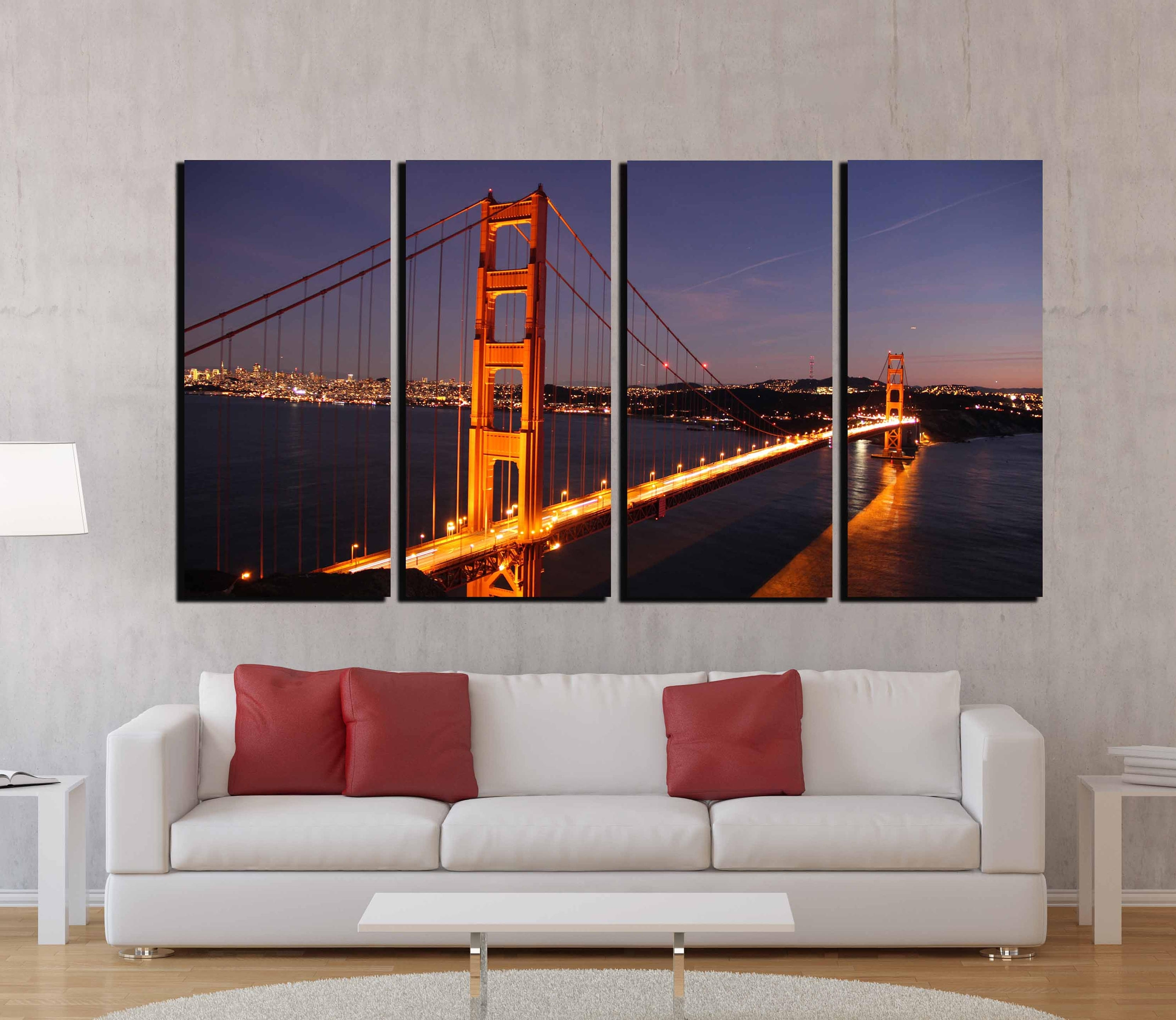 Golden Gate Bridge,golden Gate Wall Art,san Francisco Wall Art inside San Francisco Wall Art (Image 8 of 20)