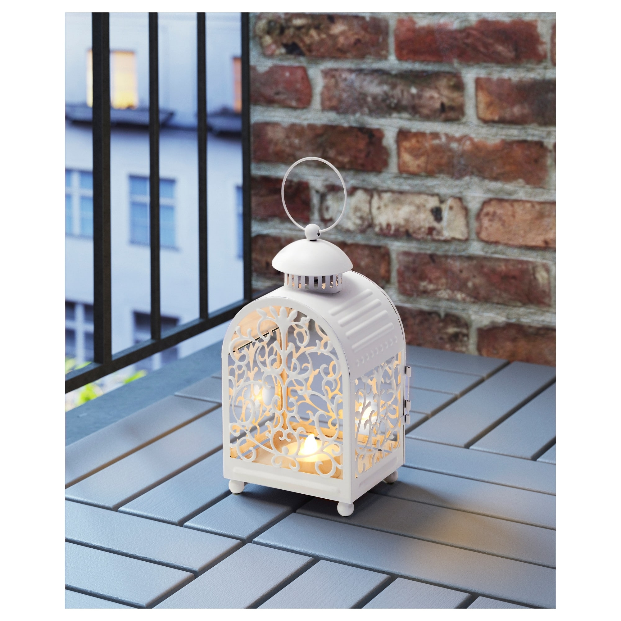 Gottgöra Lantern For Candle In Metal Cup In/outdoor White 26 Cm - Ikea intended for Ikea Outdoor Lanterns (Image 7 of 20)