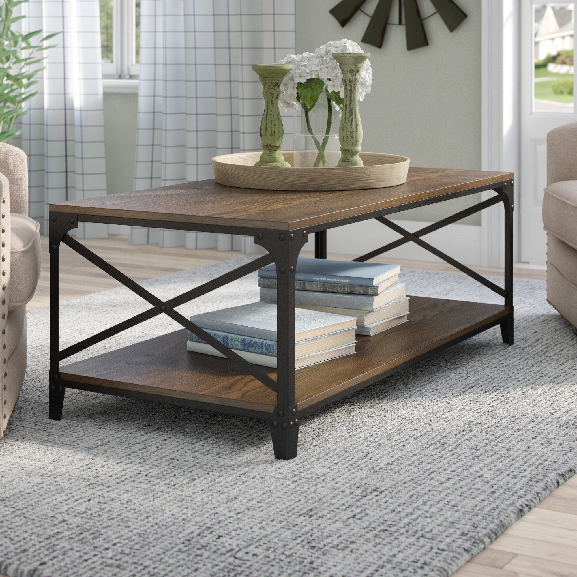 Gracie Oaks Elesa Coffee Table & Reviews | Wayfair inside Large-Scale Chinese Farmhouse Coffee Tables (Image 11 of 30)