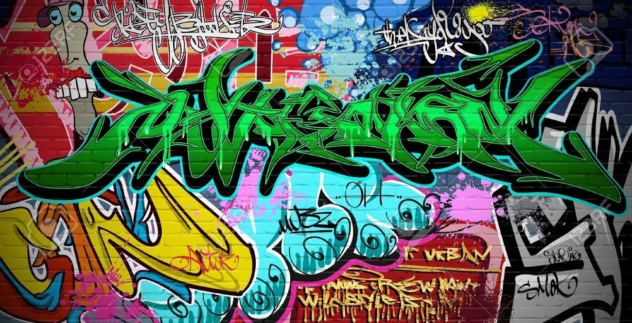 Graffiti Wall Urban Art Royalty Free Cliparts, Vectors, And Stock With Graffiti Wall Art (View 17 of 20)