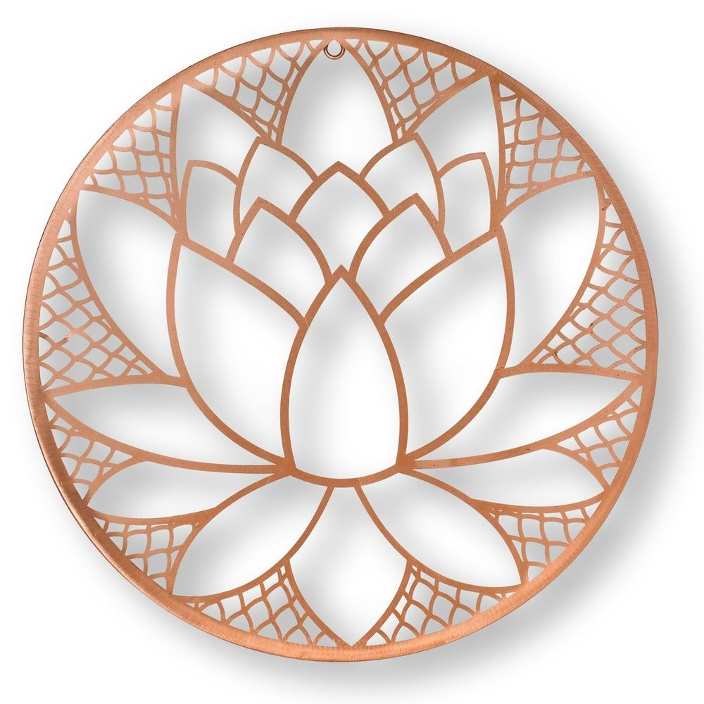 "Graham & Brown 16 In. X 16 In. ""lotus Blossom"" Metal Wall Art-104035 with regard to Copper Wall Art (Image 15 of 20)"