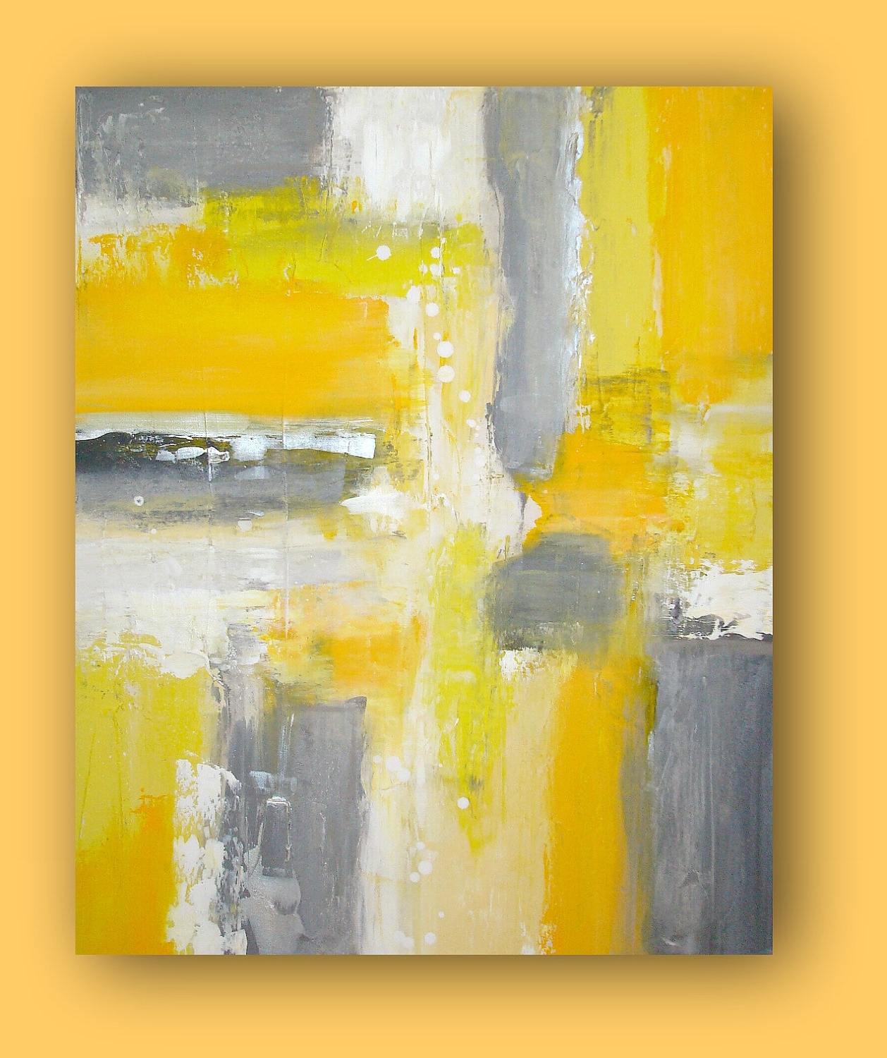 Gray And Yellow Paintings Luxury Yellow And Gray Wall Art Picture Within Yellow And Gray Wall Art (View 11 of 20)