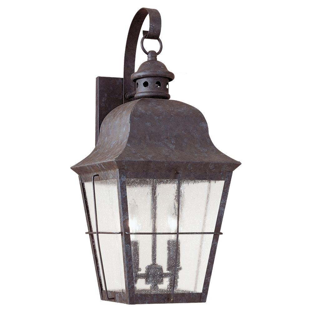 Gray - Outdoor Wall Mounted Lighting - Outdoor Lighting - The Home Depot throughout Outdoor Grey Lanterns (Image 4 of 20)