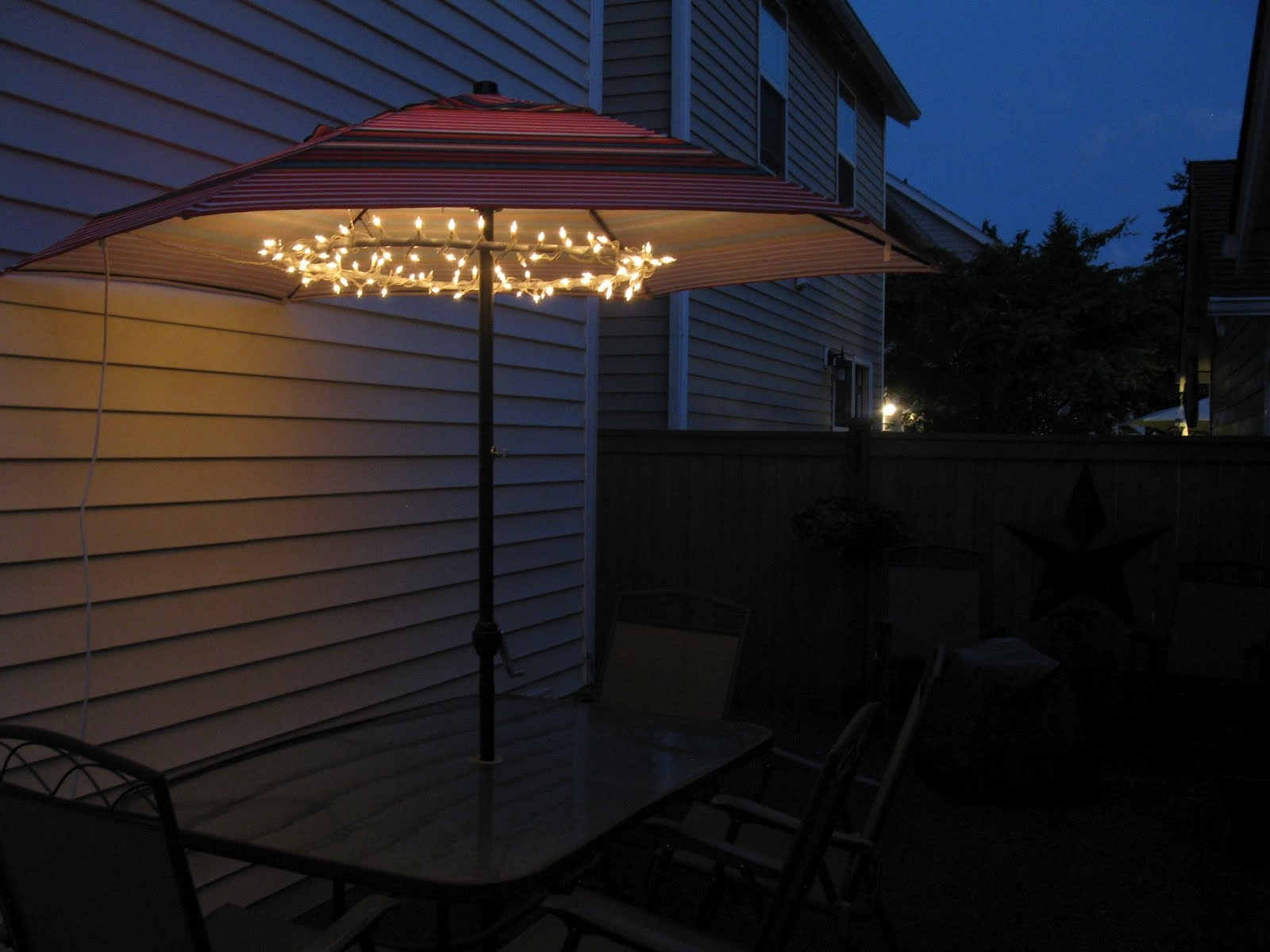 Great Patio Umbrellas With Lights Patio Umbrella Lights For The pertaining to Outdoor Umbrella Lanterns (Image 7 of 20)
