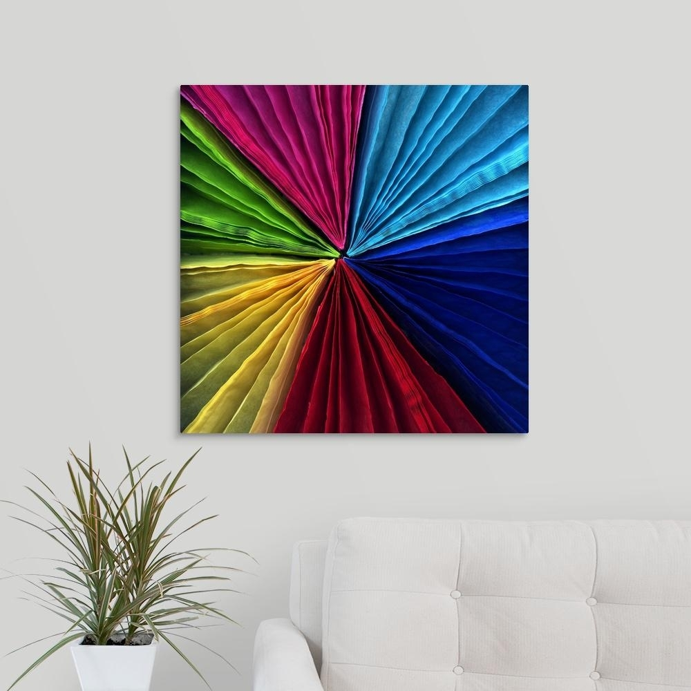 "Greatbigcanvas ""colorful Fans""magda Indigo Canvas Wall Art with regard to Colorful Wall Art (Image 13 of 20)"