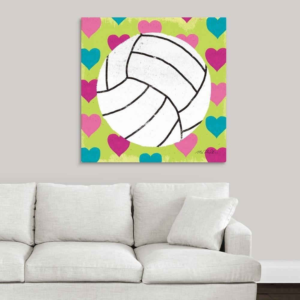 "Greatbigcanvas ""girls Sports Iii""mo Mullan Canvas Wall Art Pertaining To Sports Wall Art (View 8 of 20)"