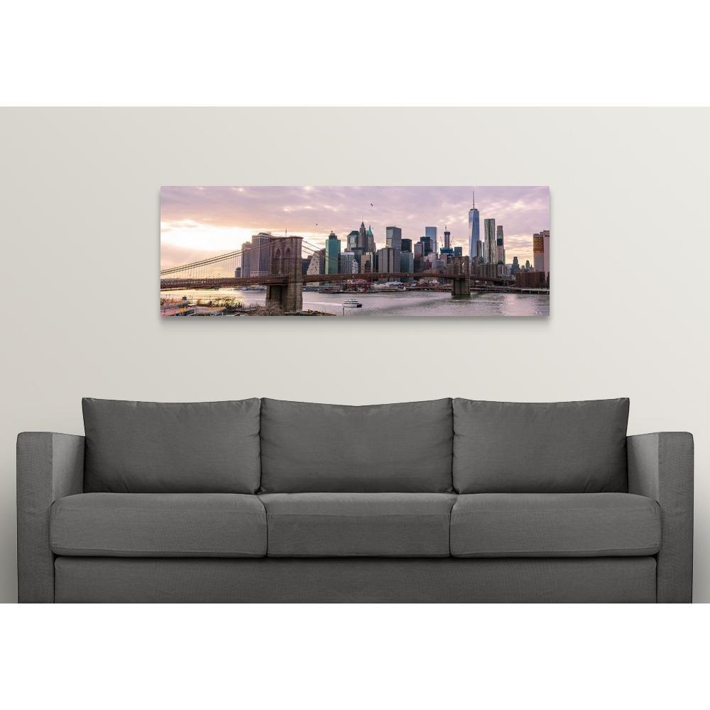 "Greatbigcanvas ""new York City Skyline At Dawn, New York.""circle throughout New York City Wall Art (Image 12 of 20)"