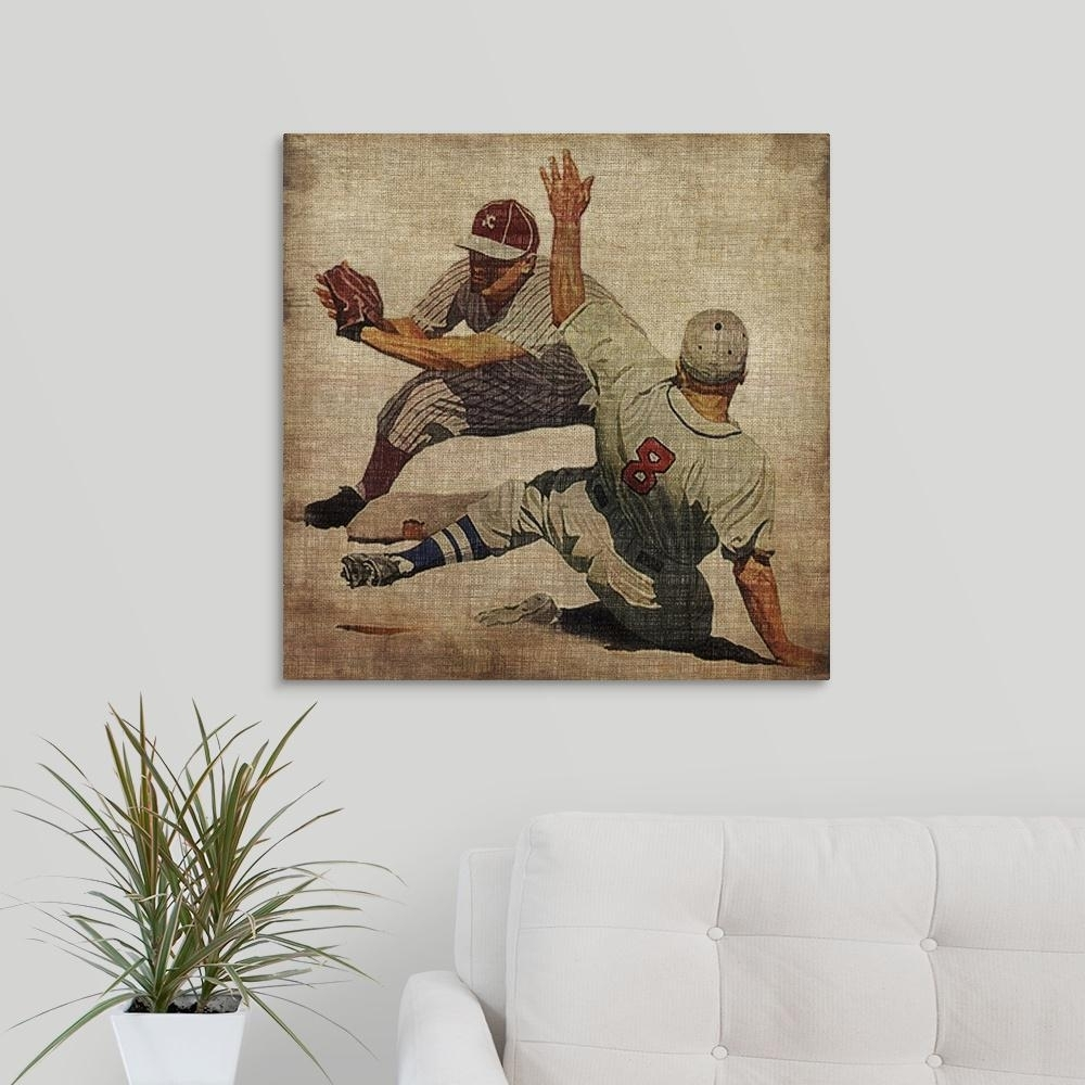 "Greatbigcanvas ""vintage Sports Vii""john Butler Canvas Wall Art Intended For Sports Wall Art (View 9 of 20)"