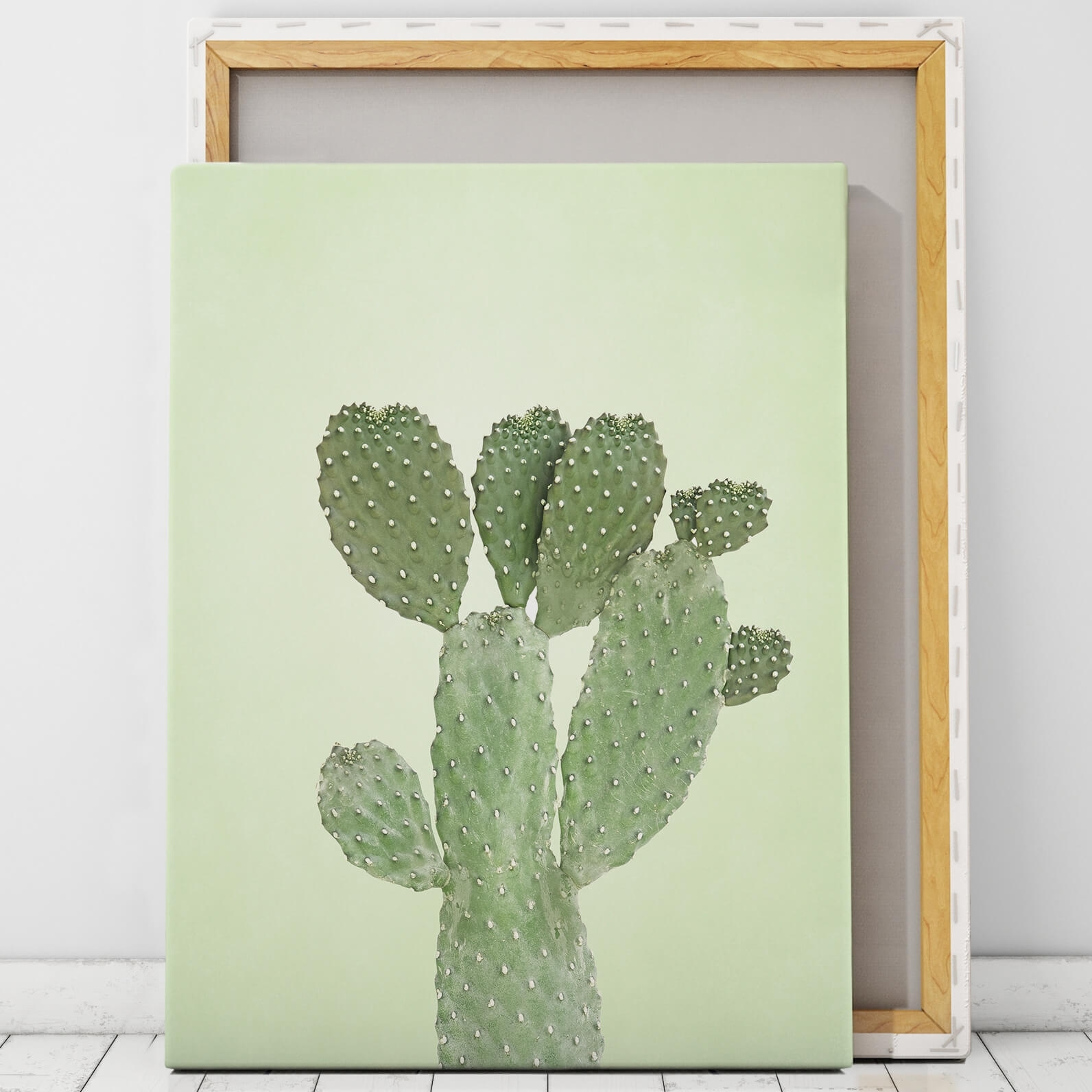Green Cactus Wall Art Print | Artworld Art World intended for Cactus Wall Art (Image 14 of 20)