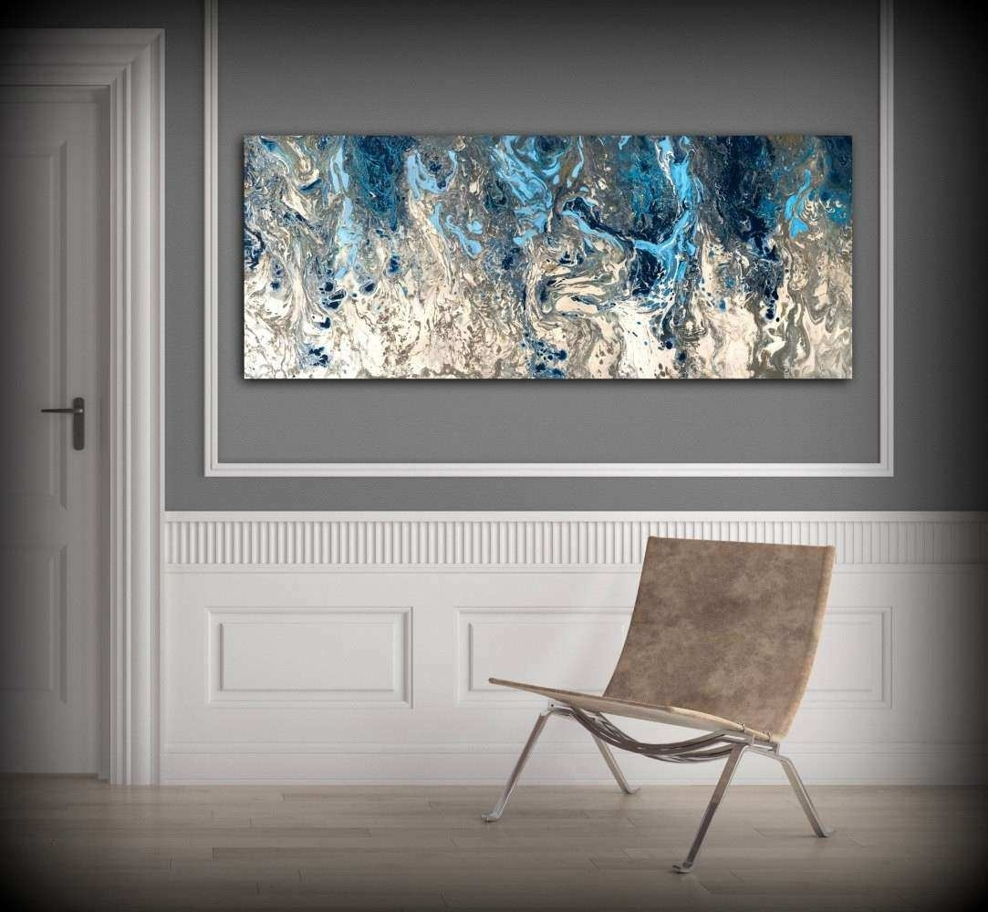 Grey And White Wall Art Inspirational Abstract Painting Print Navy within Grey And White Wall Art (Image 13 of 20)