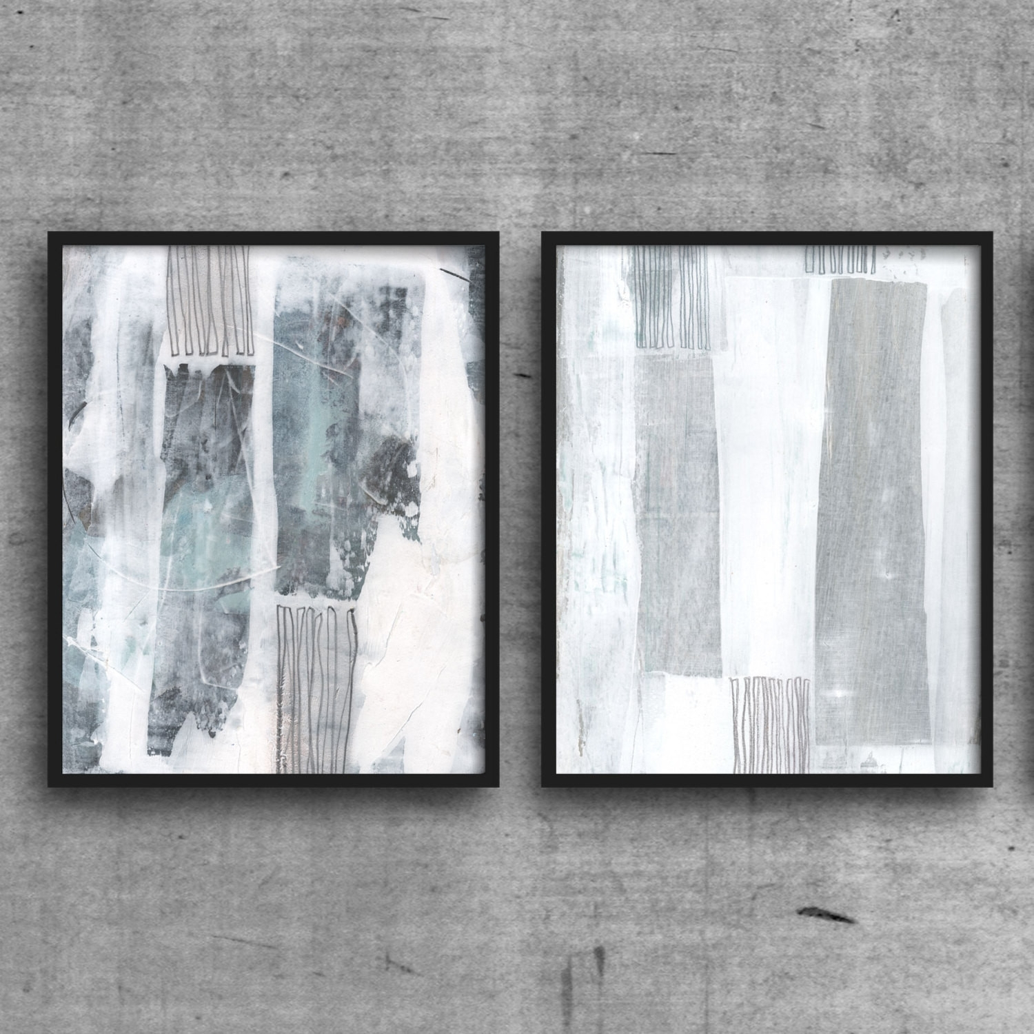 Grey And White Wall Art Minimalist Print Set Scandinavian Design pertaining to Grey and White Wall Art (Image 14 of 20)