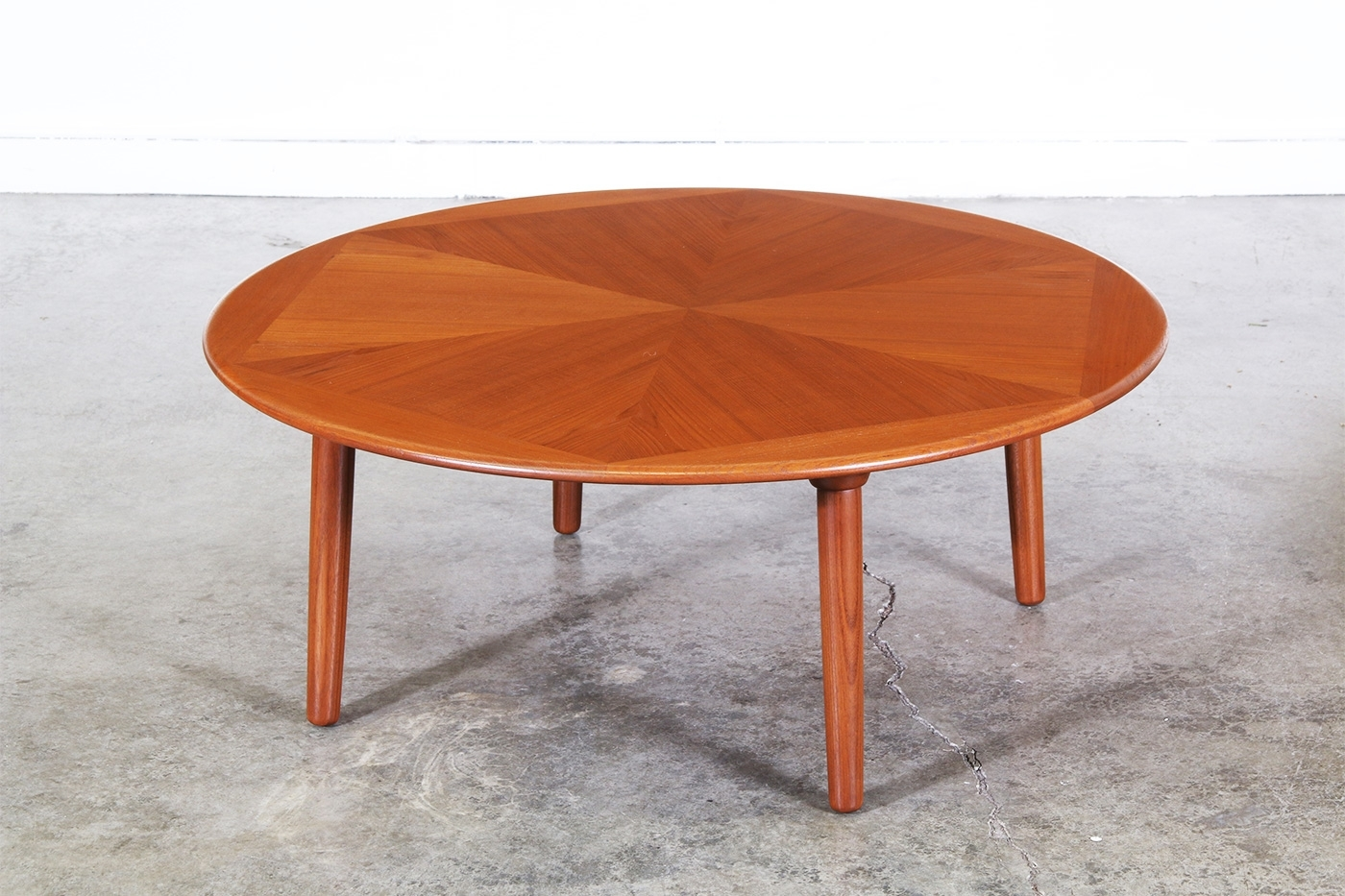 H.w. Klein Teak Coffee Table For Brahmin | Vintage Supply Store intended for Round Teak Coffee Tables (Image 9 of 30)