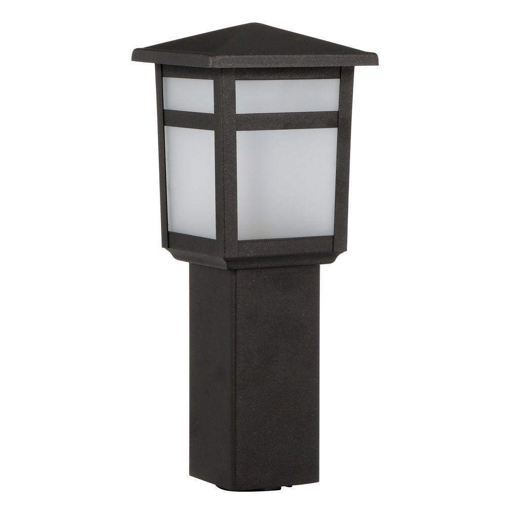 Hampton Bay Low-Voltage 10-Watt Equivalent Black Outdoor Integrated inside Outdoor Low Voltage Lanterns (Image 6 of 20)