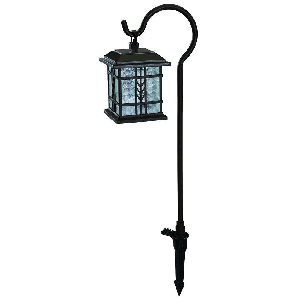 Hampton Bay Low-Voltage Led Bronze Mission Outdoor Shepherd Hook for Outdoor Low Voltage Lanterns (Image 8 of 20)