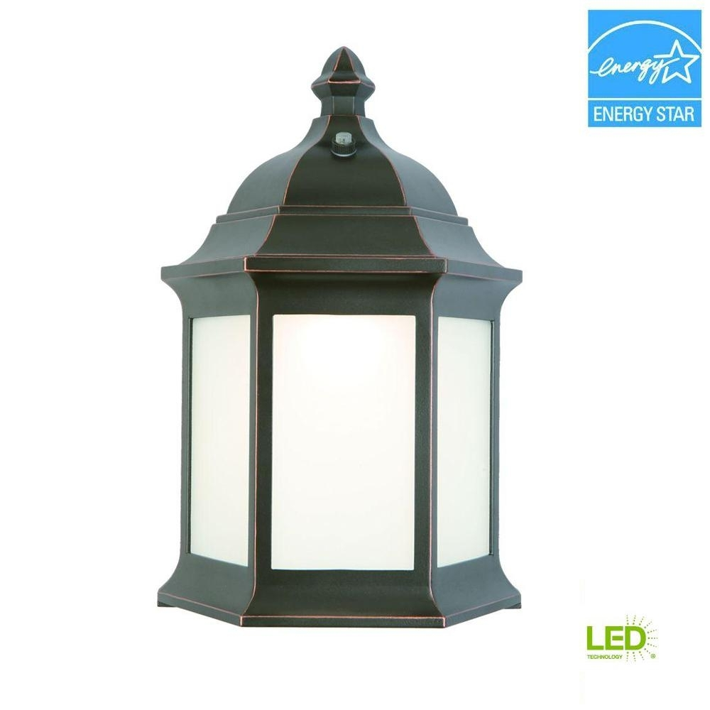 Hampton Bay Outdoor Oil-Rubbed Bronze Led Wall Lantern-Ims1691L with regard to Outdoor Oil Lanterns (Image 7 of 20)