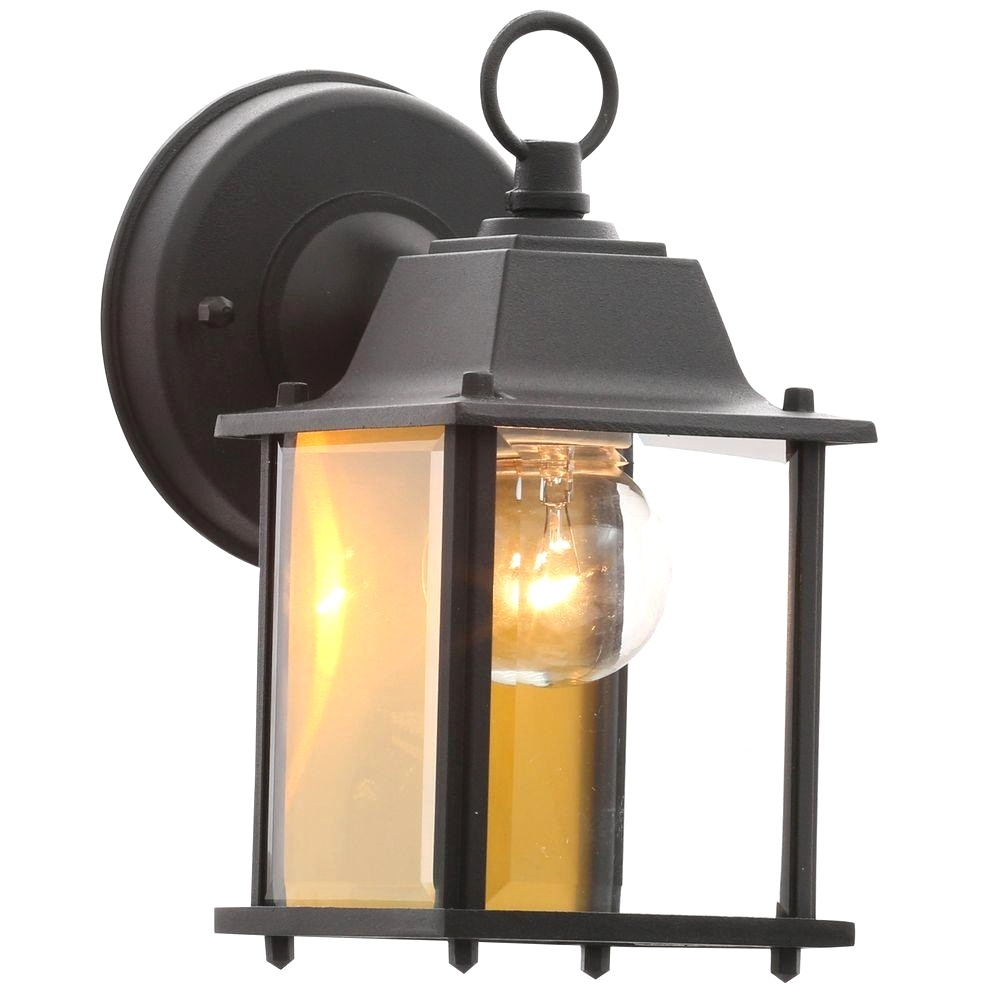 Hampton Bay Outdoor Wall Mounted Lighting Outdoor Lighting The With in Outdoor Lanterns And Sconces (Image 10 of 20)