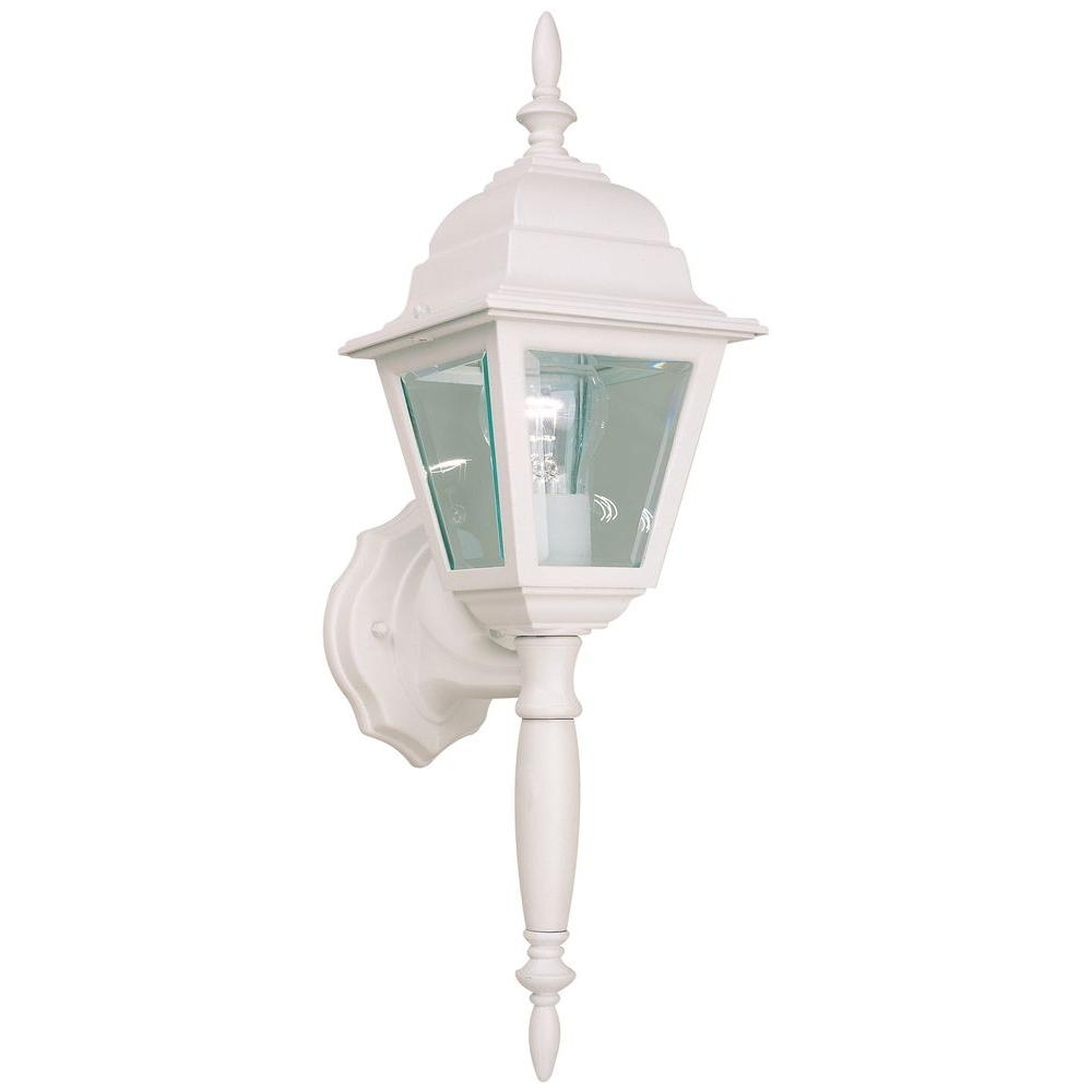 Hampton Bay White Outdoor Wall Lantern Hb7023p 06 – The Home Depot Intended For White Outdoor Lanterns (View 13 of 20)