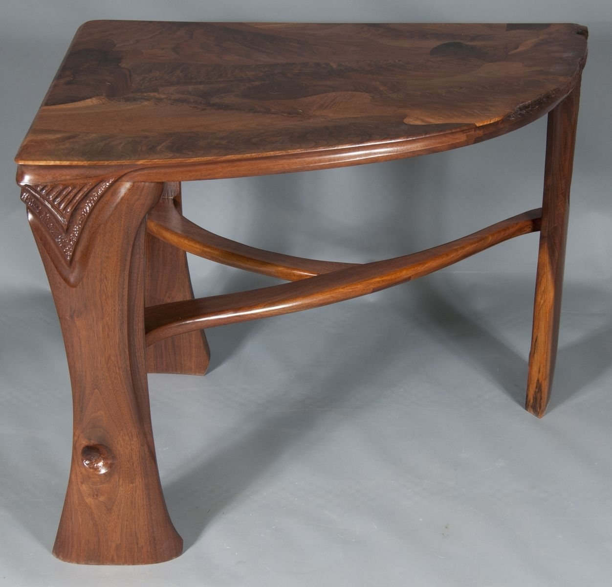 Hand Crafted Abstract Organic Expressionism In Furniture™ Walnut in Expressionist Coffee Tables (Image 15 of 30)