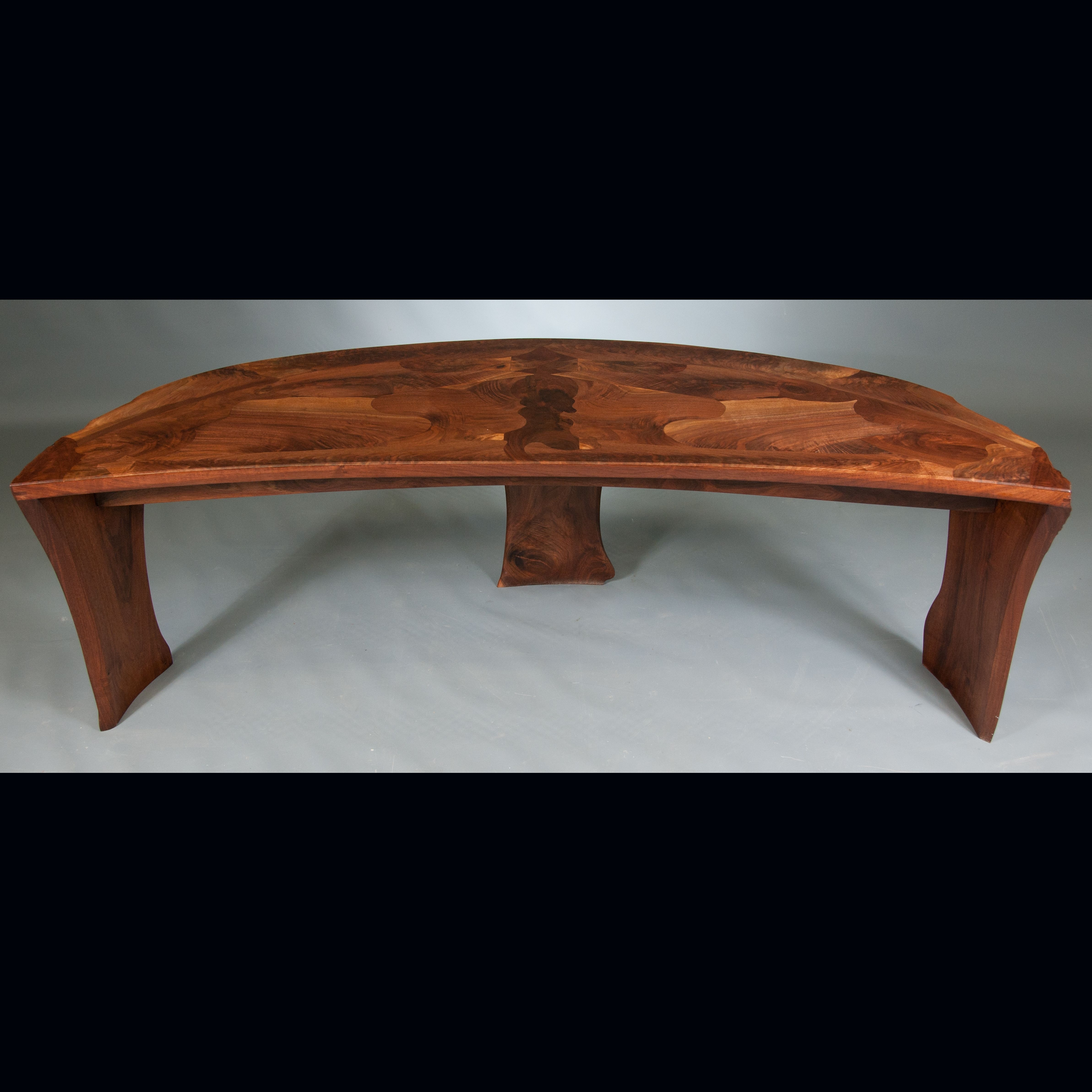 Hand Crafted Abstract Organic Expressionism In Furniture™ Walnut inside Expressionist Coffee Tables (Image 16 of 30)