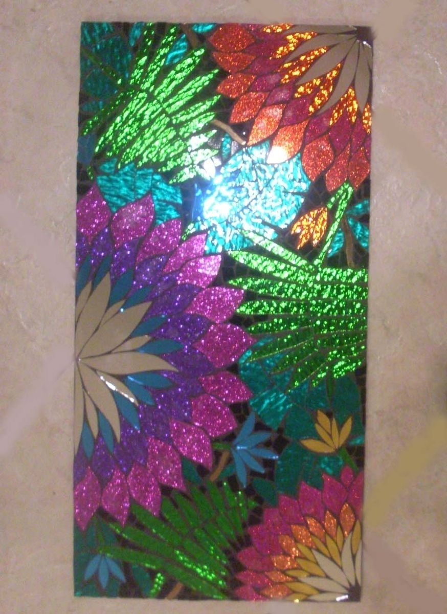 Hand Crafted Mosaic Stained Glass Wall Decorsol Sister Designs Throughout Stained Glass Wall Art (View 15 of 20)