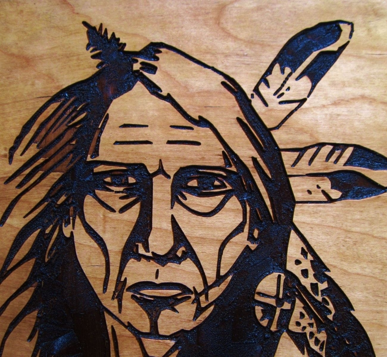 Hand Crafted Native American Indian Elder Woman Handmade Wood Within Native American Wall Art (View 13 of 20)