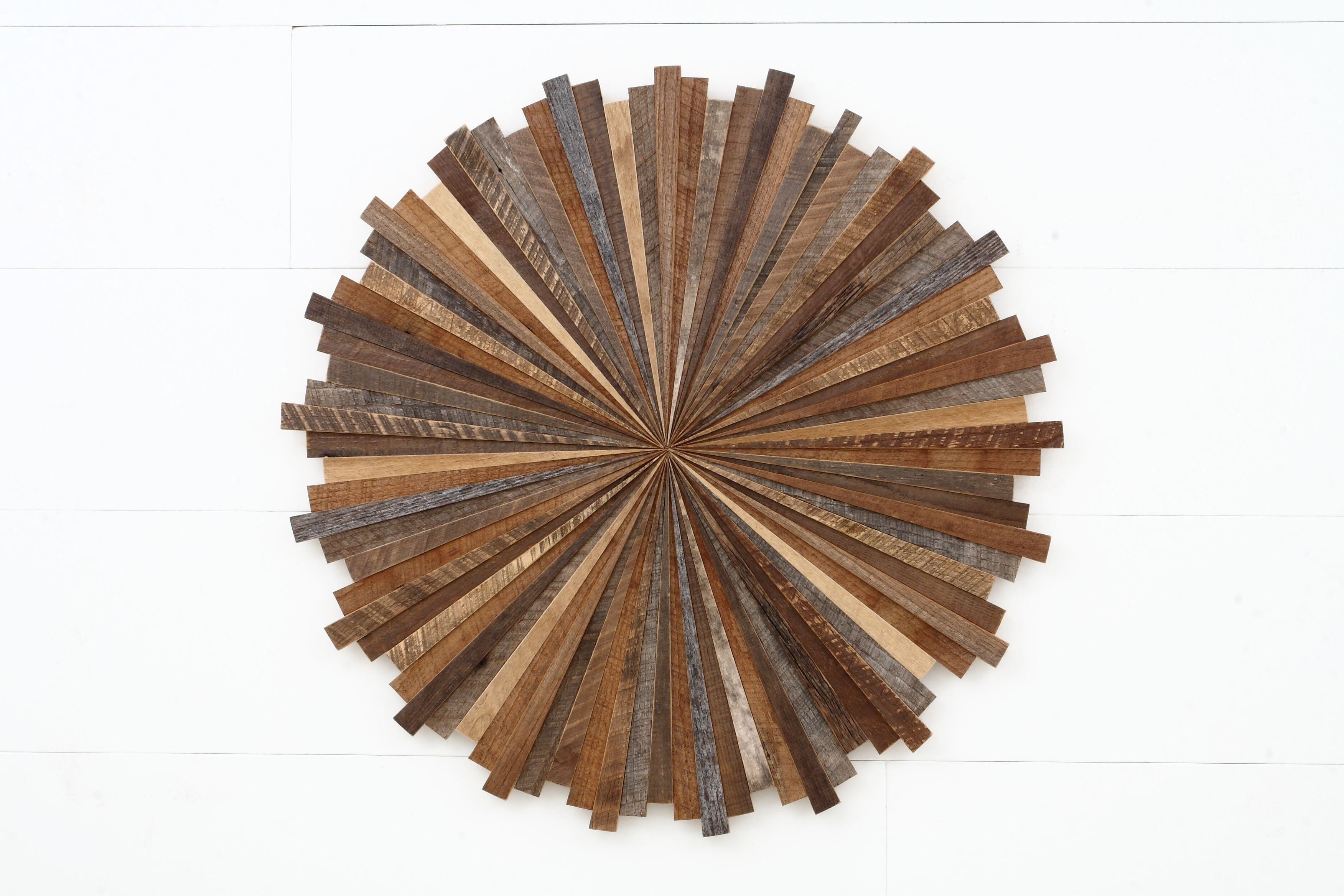 Hand Crafted Starburst Wood Wall Art, Made With Old Reclaimed For Starburst Wall Art (View 6 of 20)