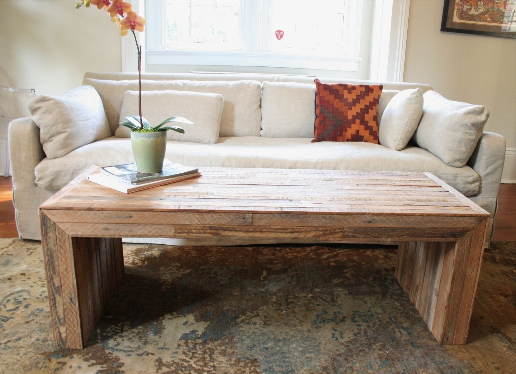 Hand Made The Jackson Table-Modern Yet Rustic Coffee Table Made From within Modern Rustic Coffee Tables (Image 5 of 30)