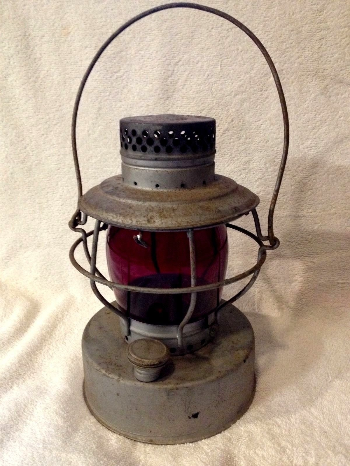 Handlan St. Louis Railroad Lantern Red Globe | Rr Lamps, Lanterns regarding Outdoor Railroad Lanterns (Image 10 of 20)