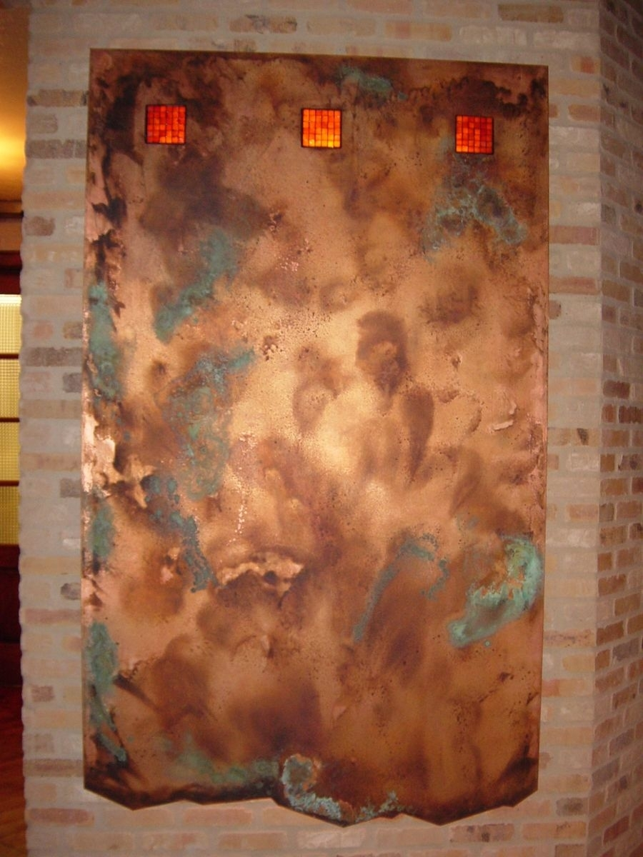 Handmade Copper Wall Artworkck Valenti Designs, Inc within Copper Wall Art (Image 16 of 20)