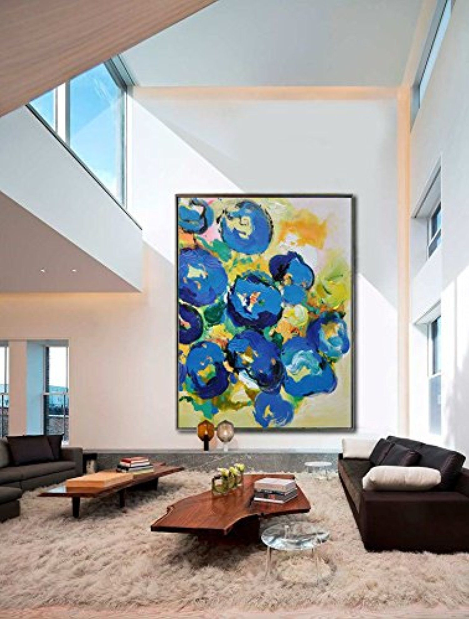 Handmade Extra Large Contemporary Painting Huge Abstract Canvas Art In Large Abstract Wall Art (View 13 of 20)