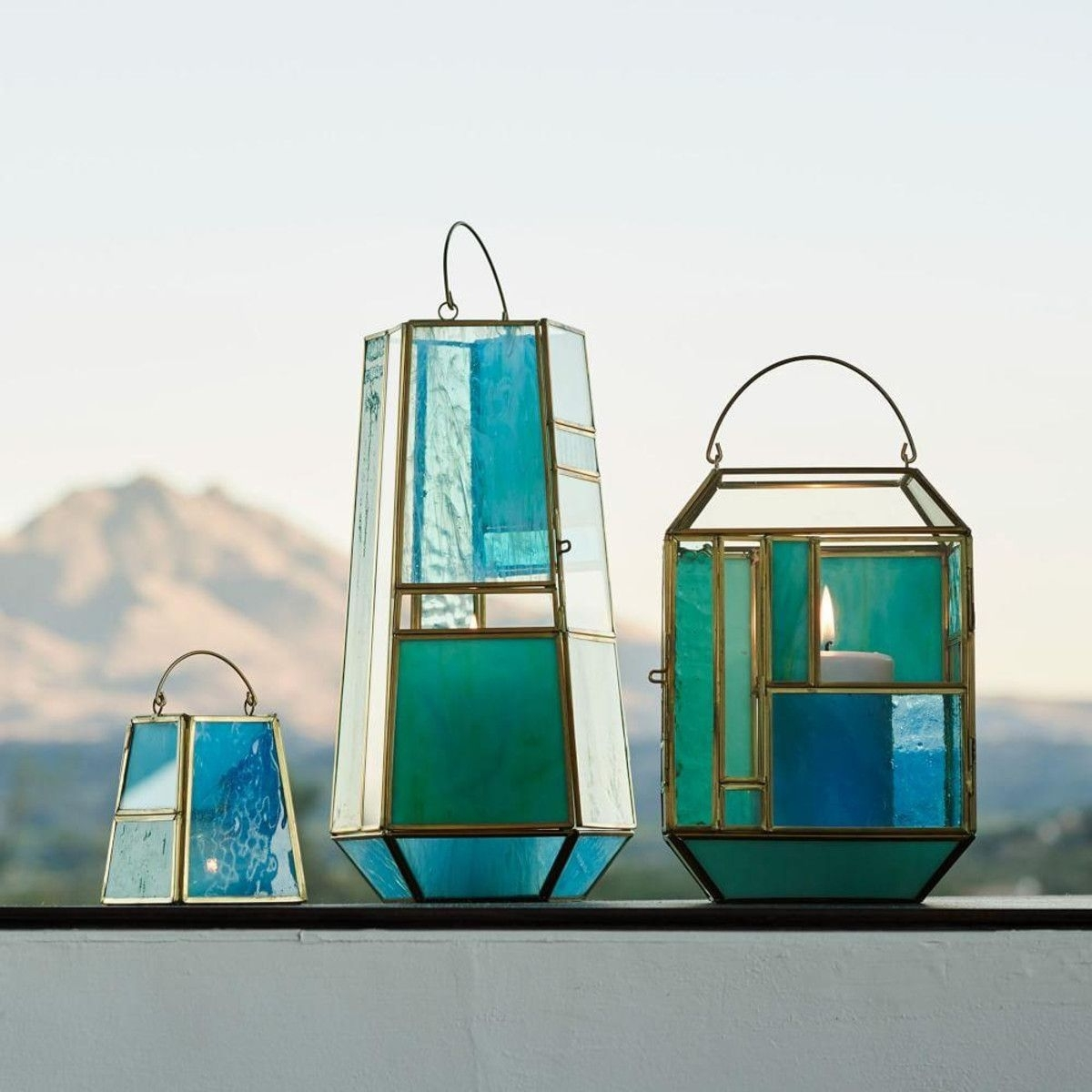 Hang These Stained Glass-Inspired Lanterns Inside Or Outside, To within Blue Outdoor Lanterns (Image 12 of 20)