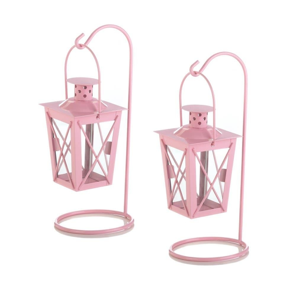 Hanging Lantern Candle, Railroad Duo Small Metal Hanging Candle with Outdoor Railroad Lanterns (Image 11 of 20)