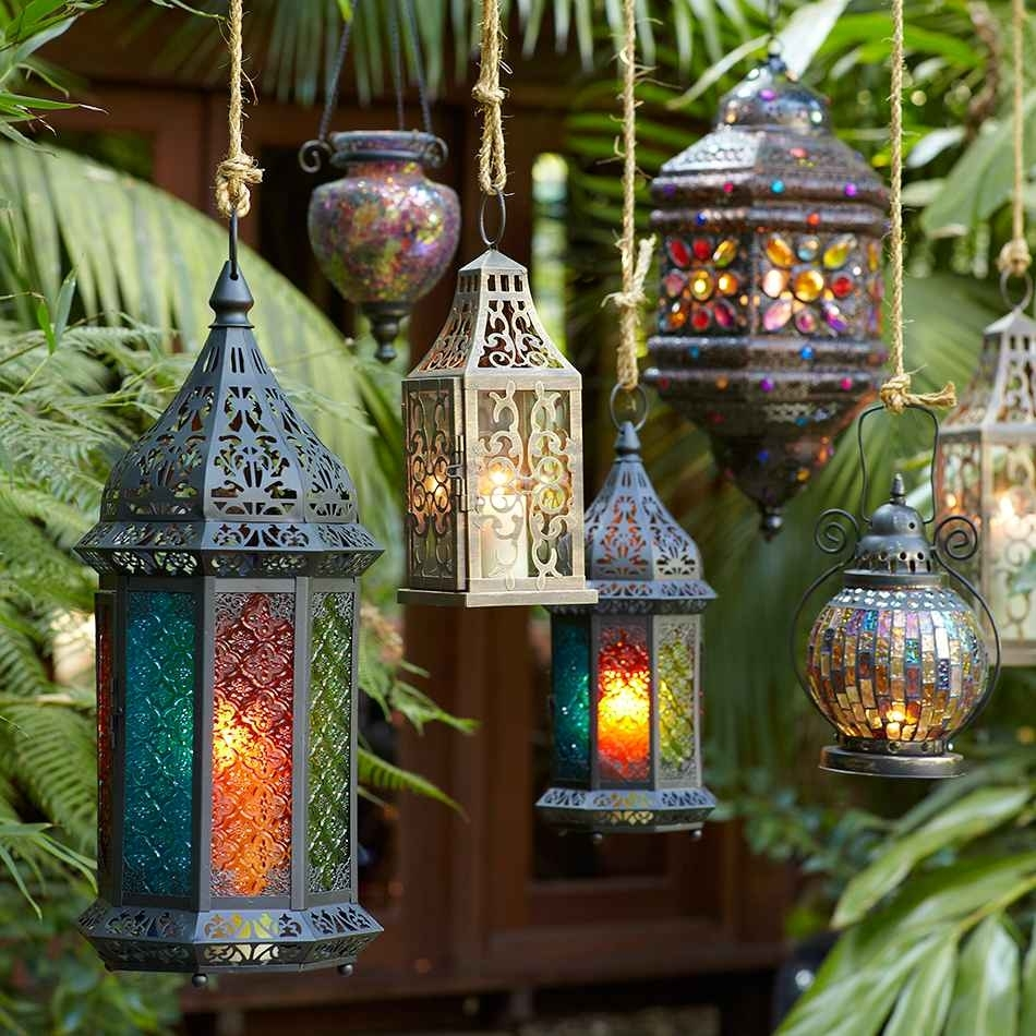 Hanging Lanterns Help A Free Spirited Sagittarius Turn Any Space For with Outdoor Turkish Lanterns (Image 5 of 20)