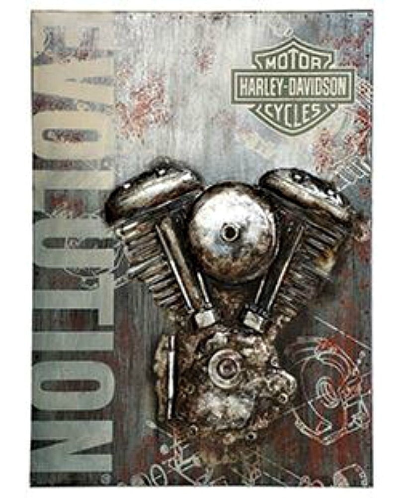 Harley-Davidson® Evolution Motorcycle Metal Wall Art | 3-D intended for Motorcycle Wall Art (Image 7 of 20)