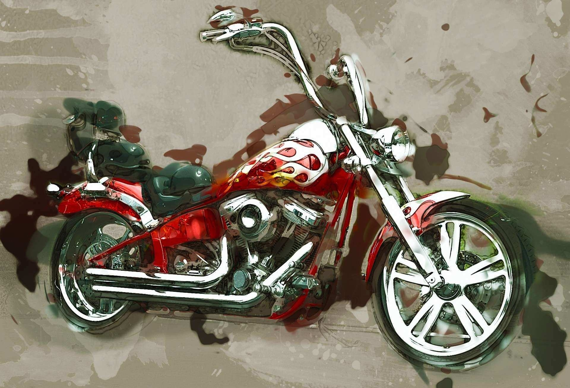 Harley Davidson Prints Wall Art New 5 Piece Canvas Art Motorcycle intended for Motorcycle Wall Art (Image 6 of 20)