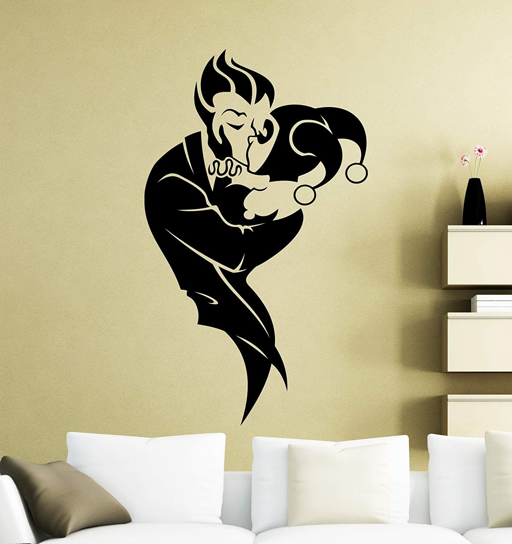Harley Quinn And Joker Wall Decal Superhero Sticker Comics Art Home with regard to Joker Wall Art (Image 13 of 20)