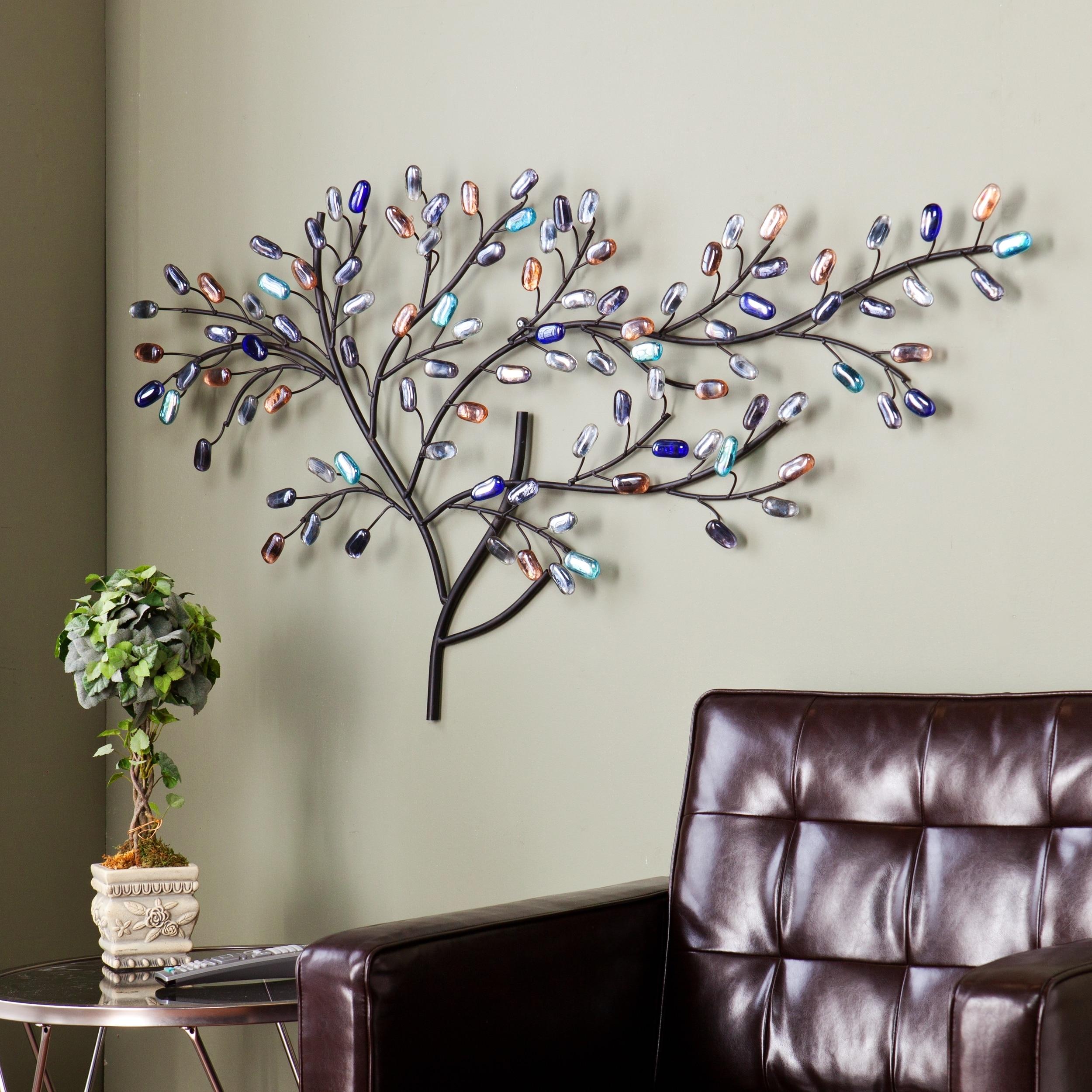 Harper Blvd Willow Multicolor Metal/ Glass Tree Wall Sculpture inside Metal Wall Art Sculptures (Image 6 of 20)