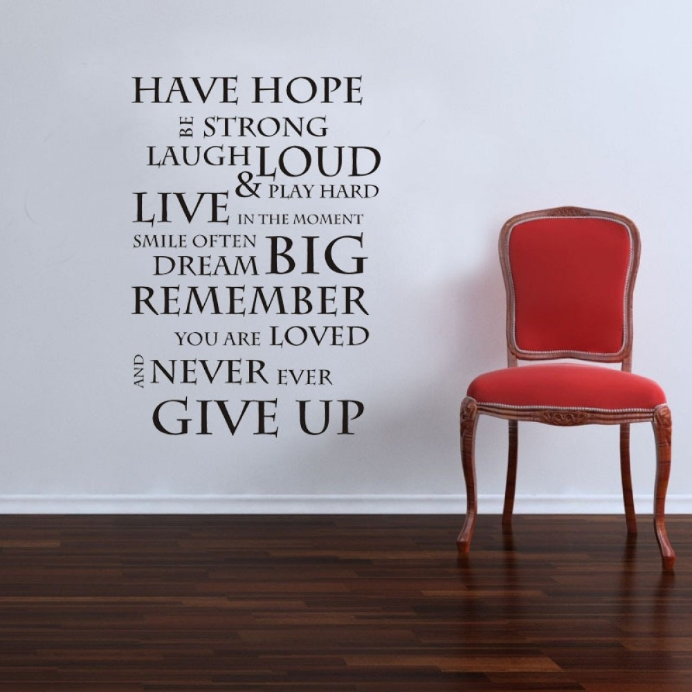 Have Hope Inspirational Wall Quote Saying | Easy Peel And Stick with regard to Inspirational Quotes Wall Art (Image 6 of 20)