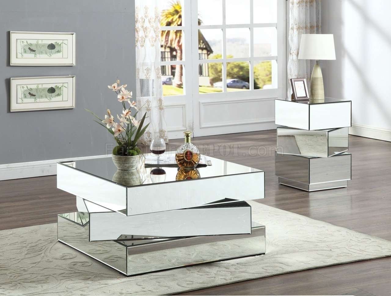 Haven Coffee Table 228 W/optional End Tablemeridian within Haven Coffee Tables (Image 18 of 30)