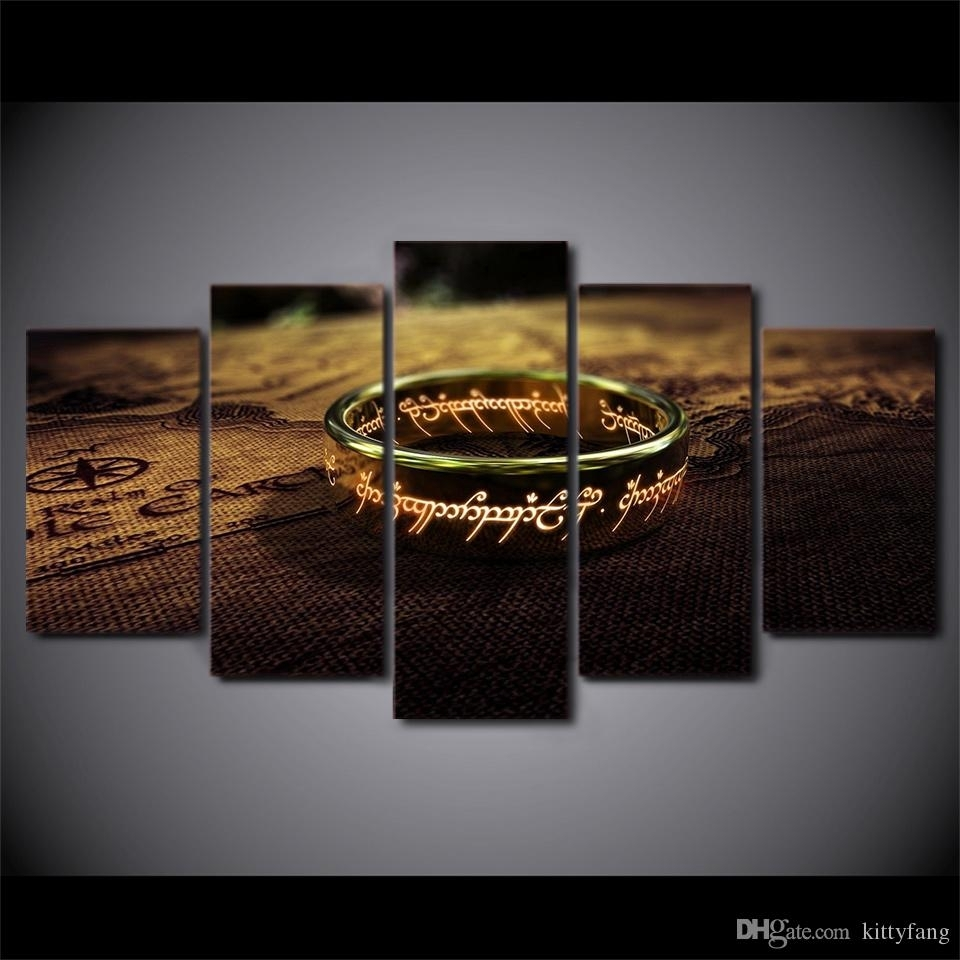 Hd Printed 5 Piece Canvas Art Lord Of The Rings Painting Wall with Lord of the Rings Wall Art (Image 6 of 20)