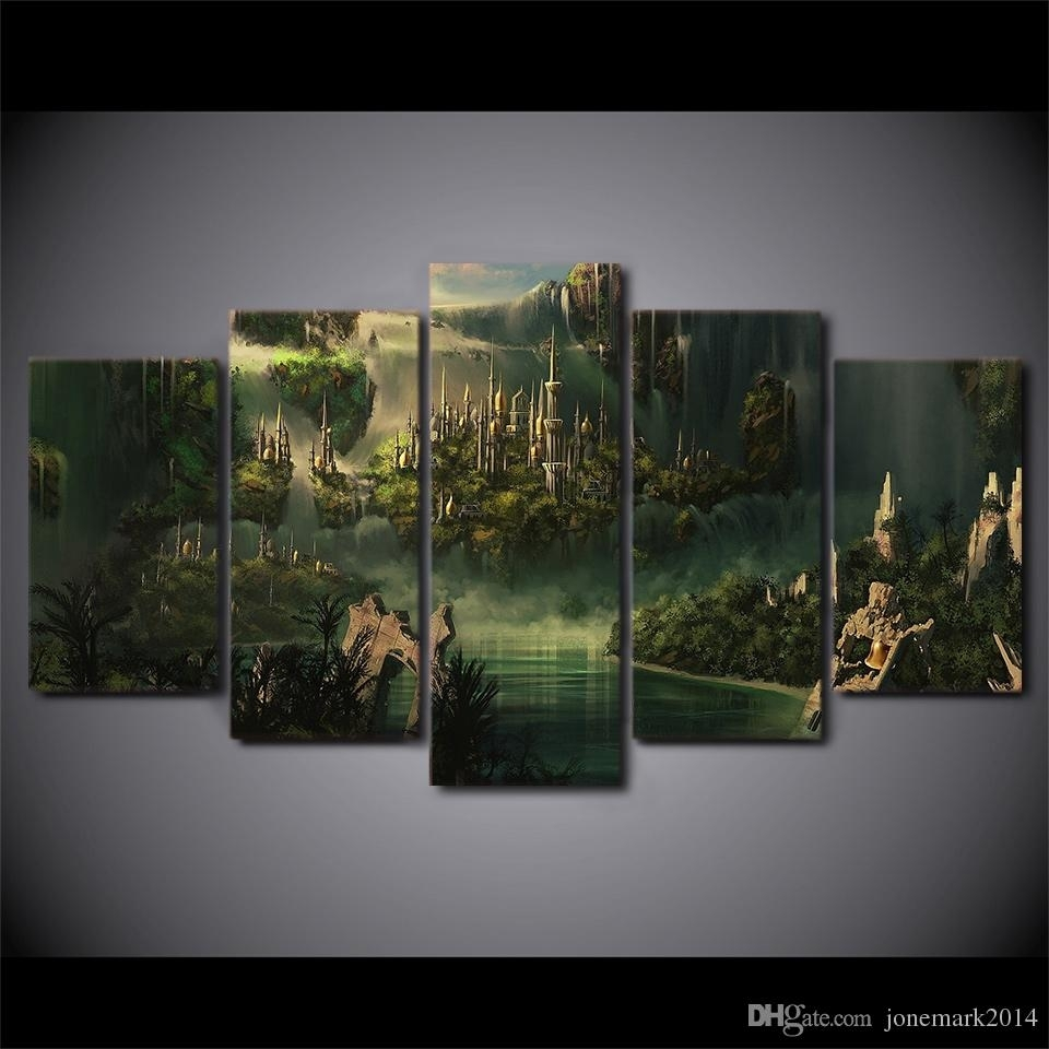 Hd Printed Canvas Art Lord Of The Rings Painting Mysterious Ancient pertaining to Lord of the Rings Wall Art (Image 7 of 20)
