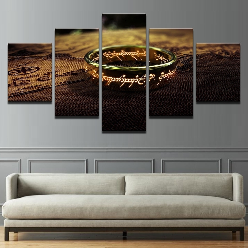 Hd Prints Canvas Pictures Living Room Wall Art Framework 5 Pieces in Lord Of The Rings Wall Art (Image 8 of 20)