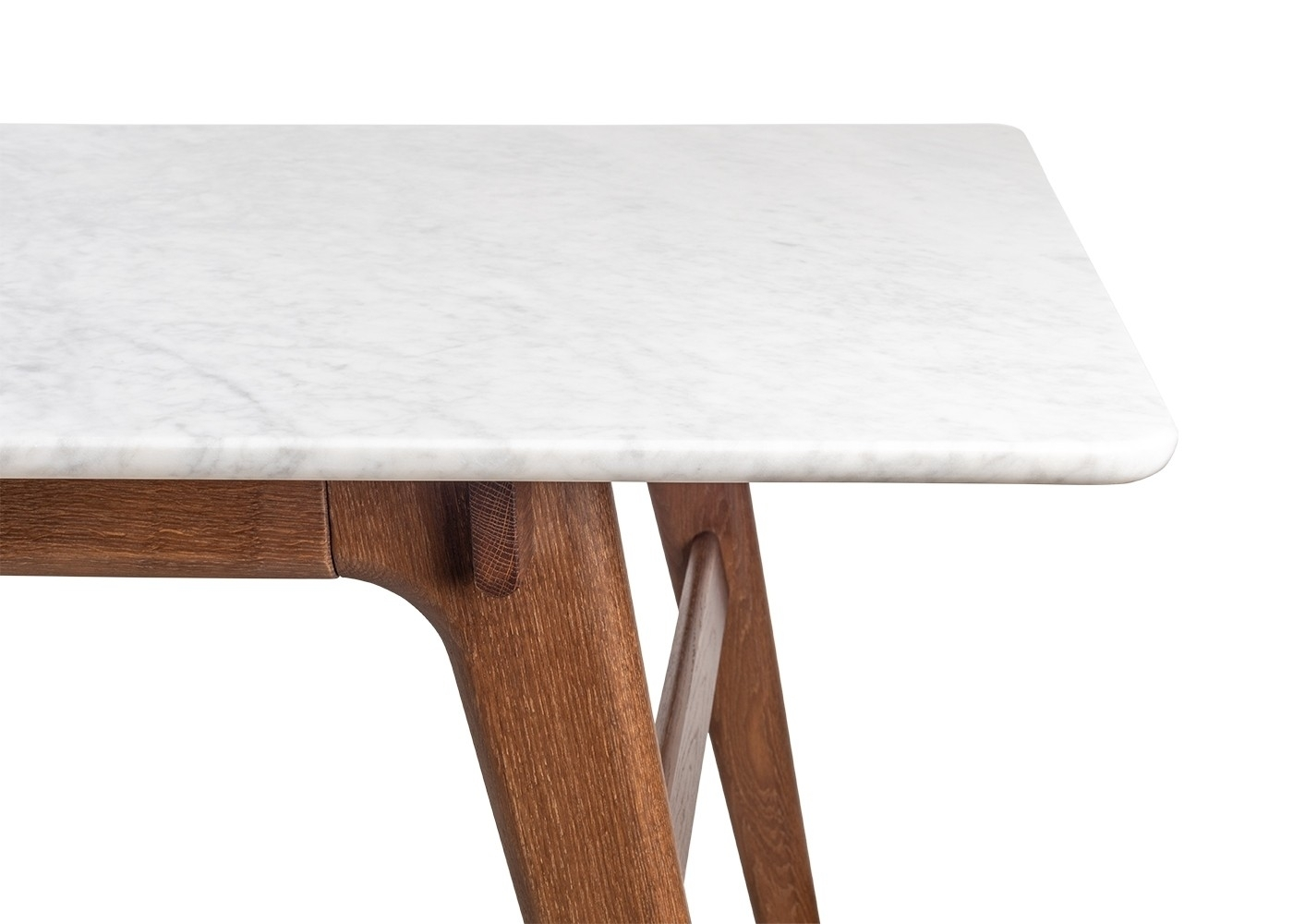 Heal's Blake Dining Table Marble Dark Oak | Heal's inside Suspend Ii Marble and Wood Coffee Tables (Image 10 of 30)