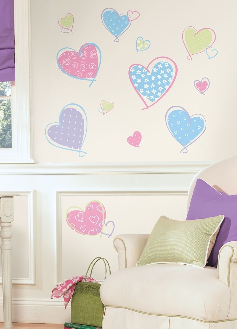 Hearts Peel & Stick Wall Decals | Pokkadots Inside Stick On Wall Art (View 4 of 20)