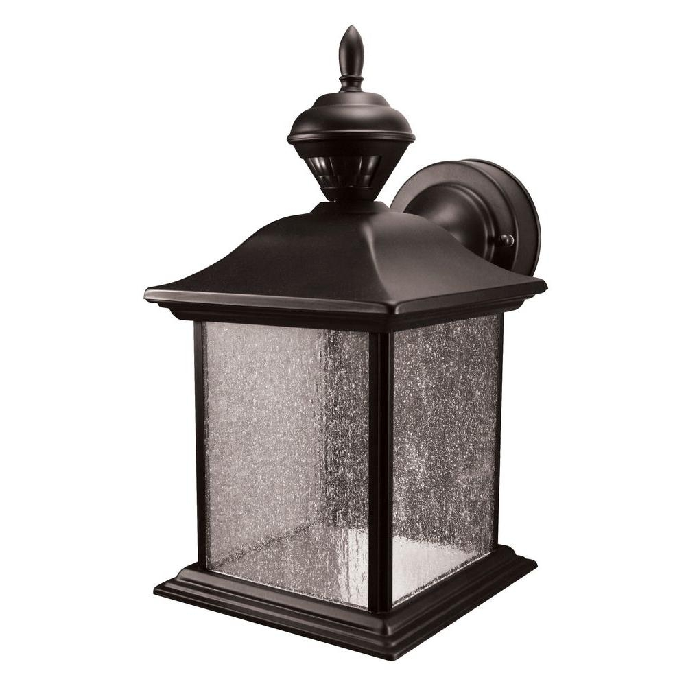 Heath Zenith City Carriage 150 Degree Black Outdoor Motion Sensing in Outdoor Motion Lanterns (Image 7 of 20)